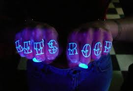 White tattoo with black light tattoo ink - White tattoo 19