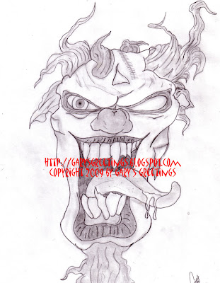 gangster clown tattoos. Gangsta+clowns+drawings