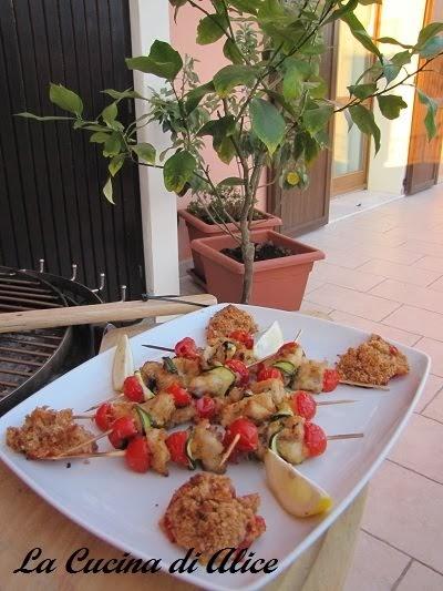 La cucina di alice spiedini di trota al bbq - La cucina di alice ...