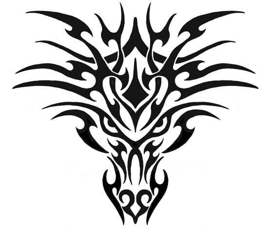 tiger tribal tattoo. Tribal Dragon Tattoos For