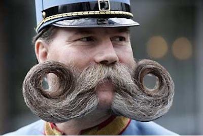 funny handlebar moustache