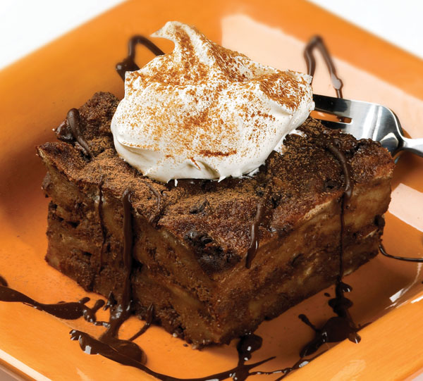 dave's desserts: Triple chocolate Bread Pudding