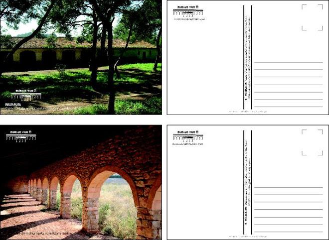 """2 mostres de la col.lecció de postals """"Riuraus Valencians""""(8 total).Les podeu obtindre per correu-e"""