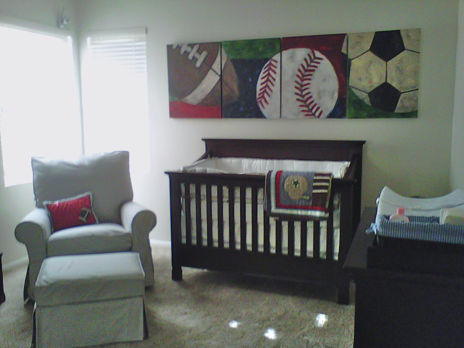 Dear Weekend My Client 39 S Sports Themed Nursery