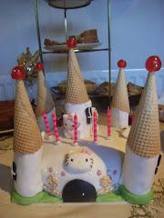 Castelo da hello Kitty em bolo...