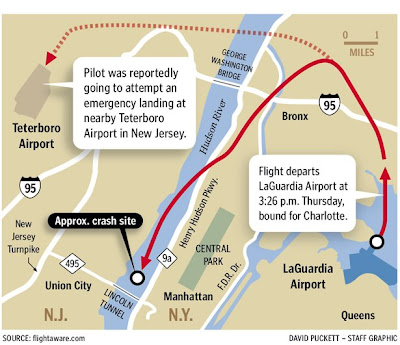 Life Floating By US Airways Flight Ditches In New Yorks - Us air map