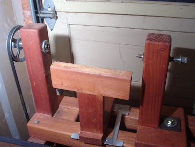 Tool Rest And Work Area Of Homemade Wood Lathe