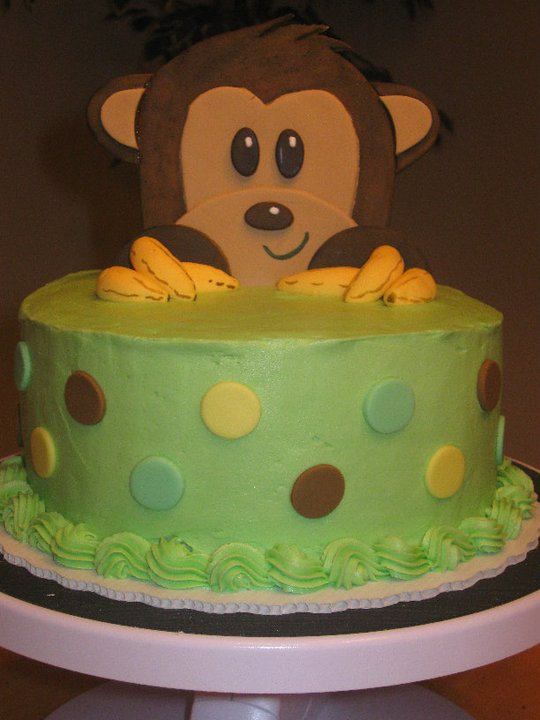 Cakes by becky monkey baby shower cake - Monkey baby shower cakes for boys ...