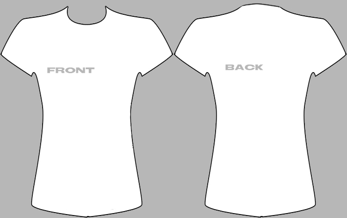 black t shirt design template