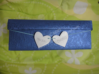 Carve own name / valentine's name on card
