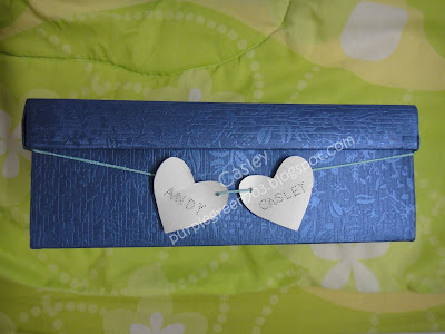 Names carved on valentine card