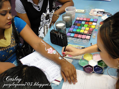 Free hand art drawing skill at Beauty Expo Malaysia