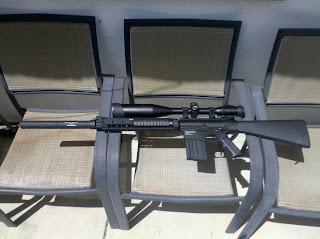 custom airsoft m110 sass, custom airsoft aeg, knights armament, eugune stoner
