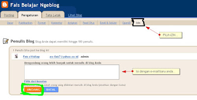 cara mengganti e-mail log in di blogger