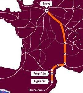 TGV Parijs Barcelona