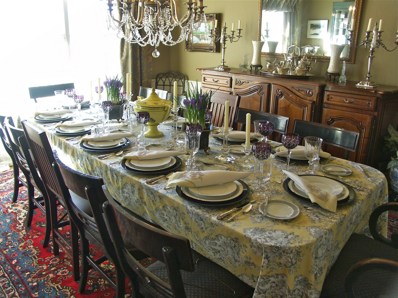 Superb My Inspiration For Todayu0027s Table Was The Yellow, Cream, And Gray Toile  Tablecloth. I Bought A Lot Of Them On EBay This Fall, Primarily To Use On  The Back ...