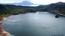 Main crater lake of Taal volcano