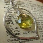 Citron - Hängsmycke i silver med citronkvarts
