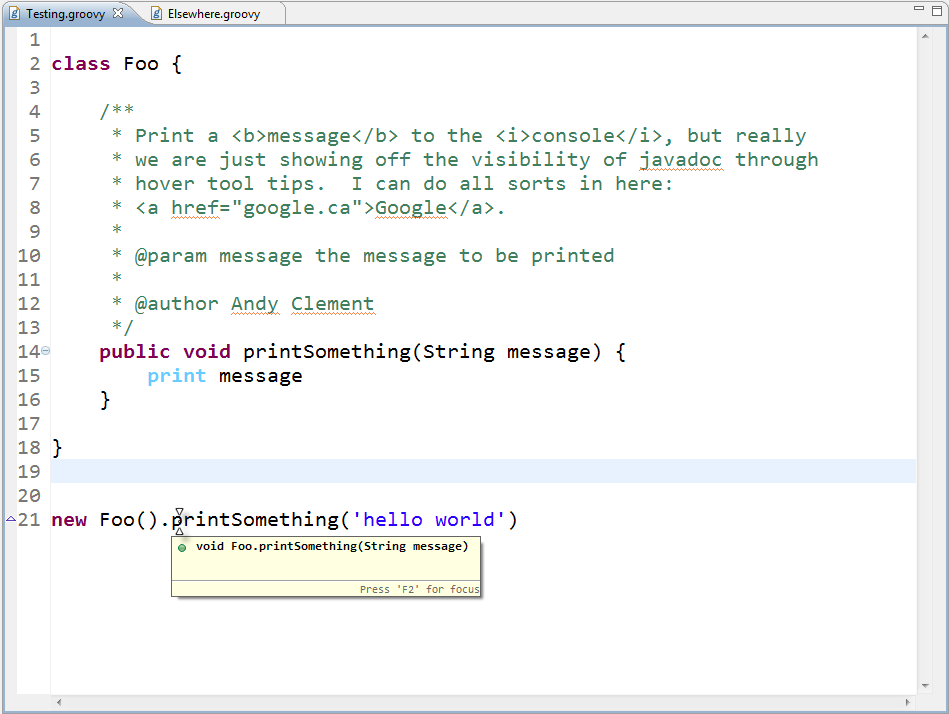how to write doc comments for javadoc