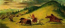 Battaglia fra Fox e Sioux di Catlin