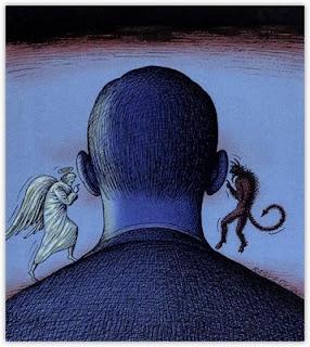 etica coscienza uomo angelo diavolo