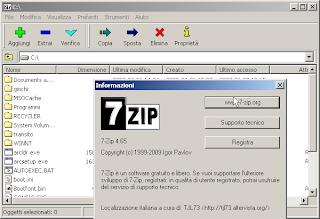schermata 7Zip