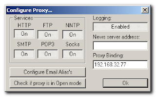 AnalogX Proxy server - pannello configurazione