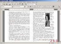 AbiWord ver. 2.6.8 - immagine esempio importazione formato .doc