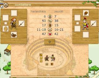 Traviani - schermata combattimento