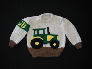 Knitting Pattern With Tractor Motif : Kiersten: John Deere Sweater