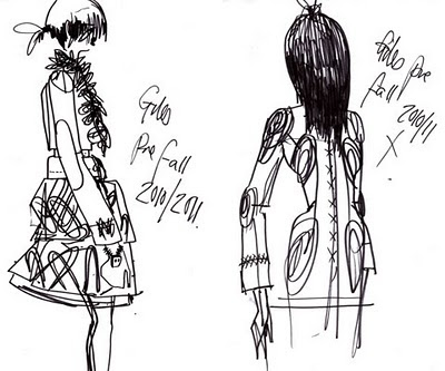 2010 Fall Fashion  Teens on The Fashion Illustrator  Giles Deacon S Sketches  Pre Fall 2010 2011