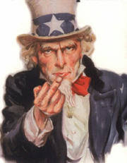 uncle sam giving the finger