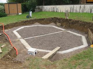 Piscine semi enterr e ceinture b ton for Ceinture beton piscine