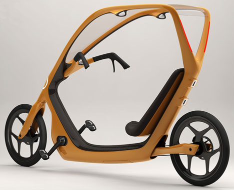 Recumbent Bicycle on Thisway Recumbent Bicycle Concept Has The Rain Covered   Mark S
