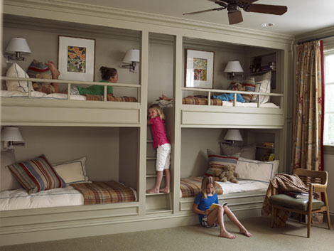 Детская для 4 детей в квартире фото