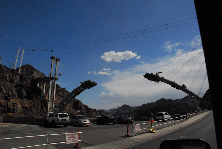 Highway Around Hoover Dam Under Construction (very high up in the air)