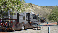 Parked at Bridgeview RV Resort in Lethbridge, Alberta