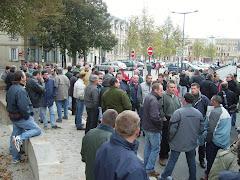 A Moulins Rassemblement  à l'appel de la FDSEA03