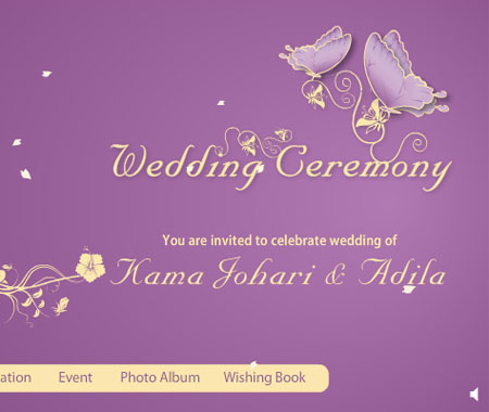 Give note of warm welcome to all your dearones to join wedding ceremony on