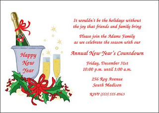 New Year Invitation party Cards