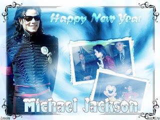 New Year Michael Jackson Wish Cards