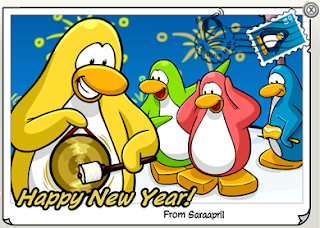 New Year Penguin Cards
