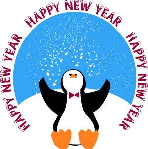happy new year penguin wishes