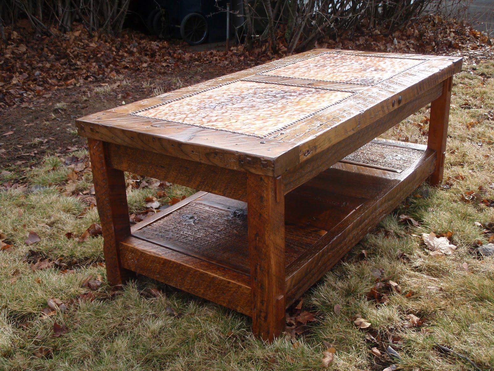 rusticworks wood working photo journal barnwood coffee table