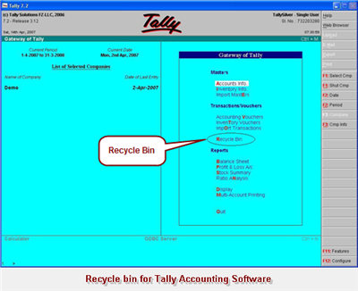Accounting Software Tally on Tally V7 2