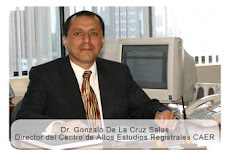 DR. GONZALO DE LA CRUZ SALAS DIRECTOR CENTRO DE ALTOS ESTUDIOS REGISTRALES RENIEC PERU