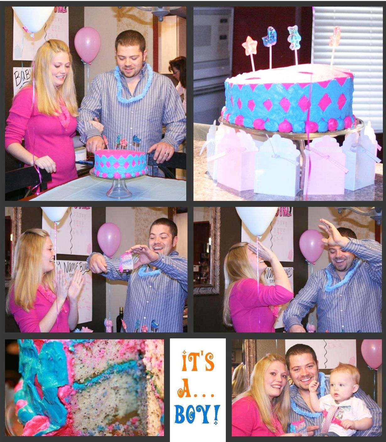 Momma Maven Pink Blue Baby Party the gender reveal pics