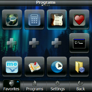 Panoramic LaunchPad Favorites Palm Treo Pro