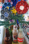 Soda Cap Flower in a Vase