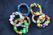Recycled Wrapper Bracelets